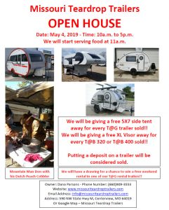Open House Missouri Teardrop Trailers