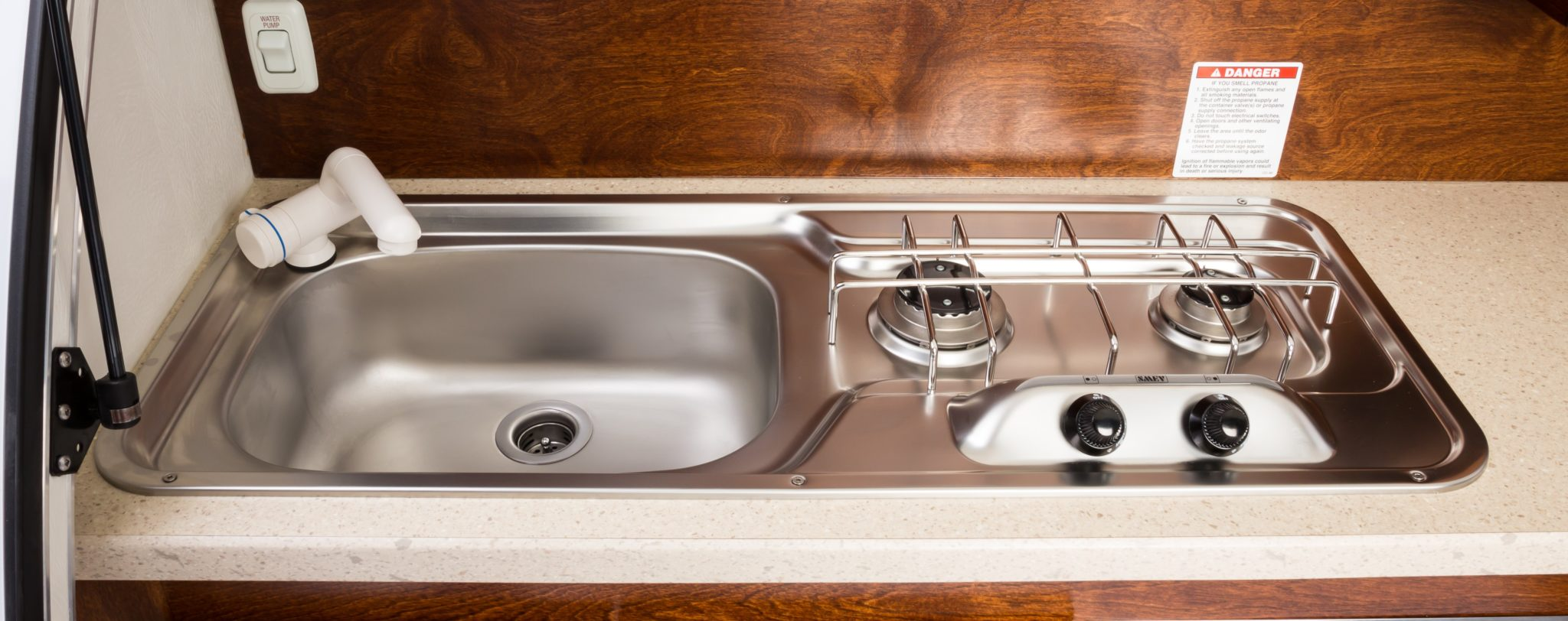 2-top Sink and Stove combo in TAG trailer
