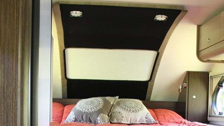 100 Percent LED Lighting throughout Interior and Exterior in Cirrus 820 Truck Camper
