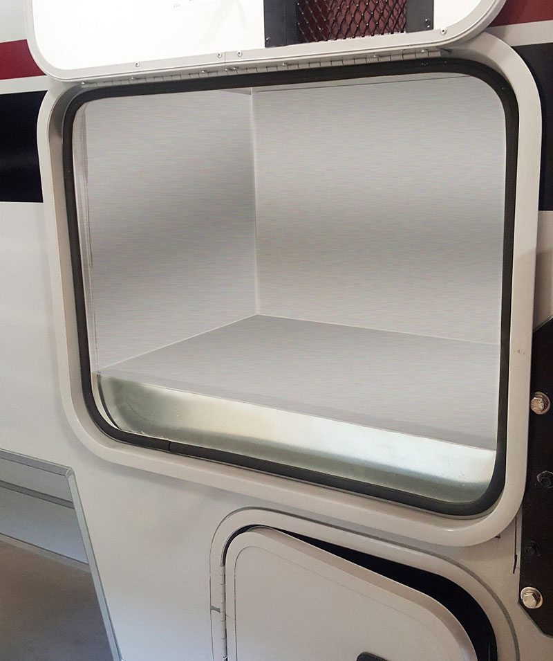 Large Storage Compartment in Cirrus 920 Truck Camper