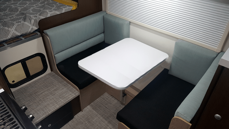 Larger Dining Table in Cirrus 920 Truck Camper
