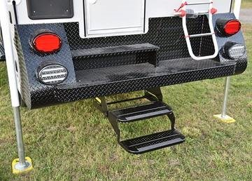Pull Out Entry Door Steps on Cirrus Truck Camper